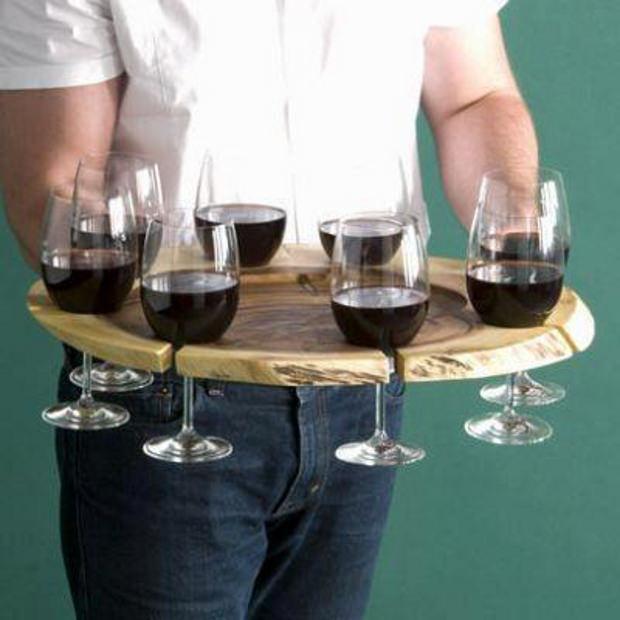 Porta bicchieri da vino fai-da-te