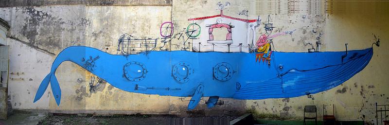 Mart, lo street-artist che ama la bicicletta