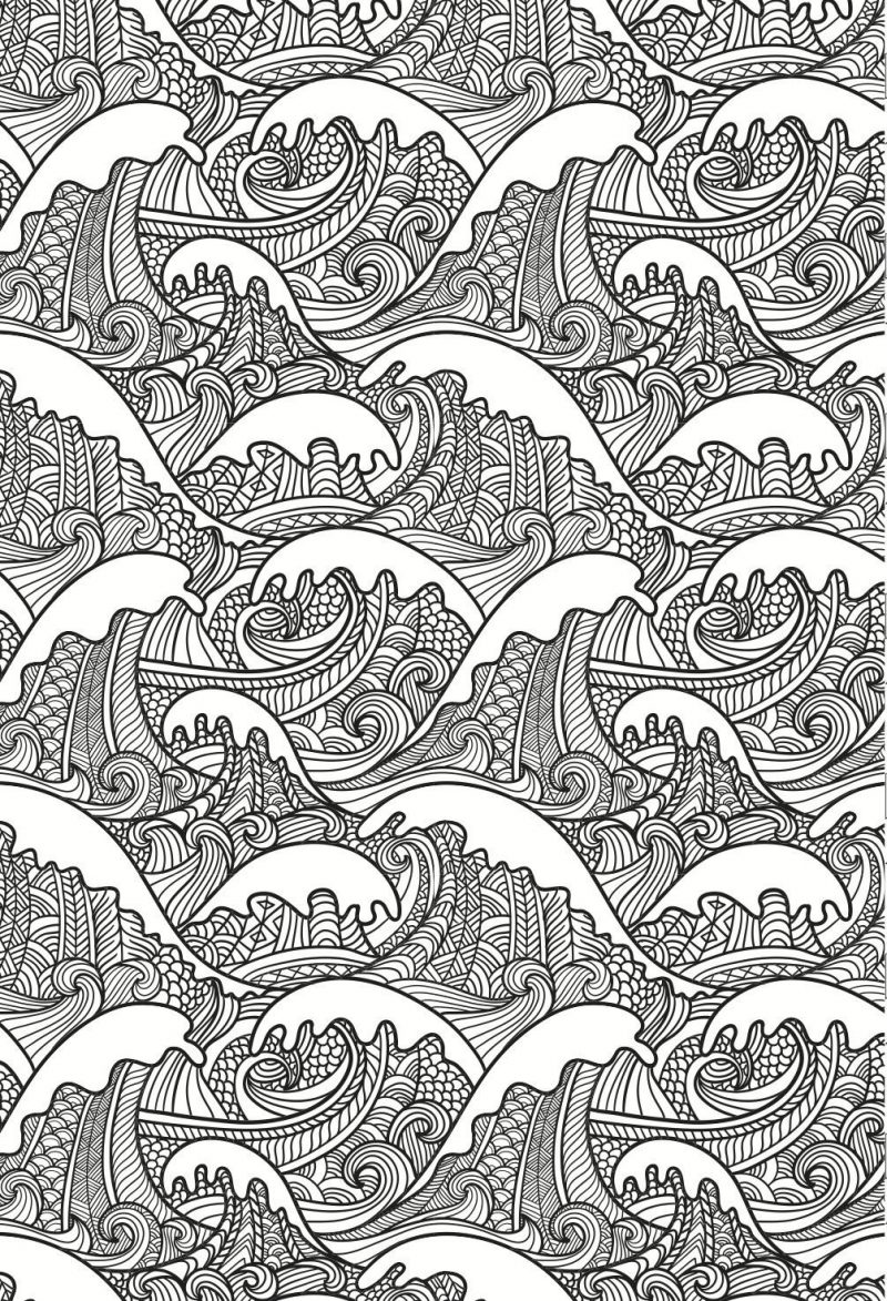 free ocean waves coloring pages - photo#13