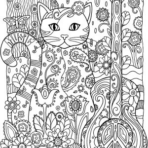 art therapy coloring pages cat - photo#19