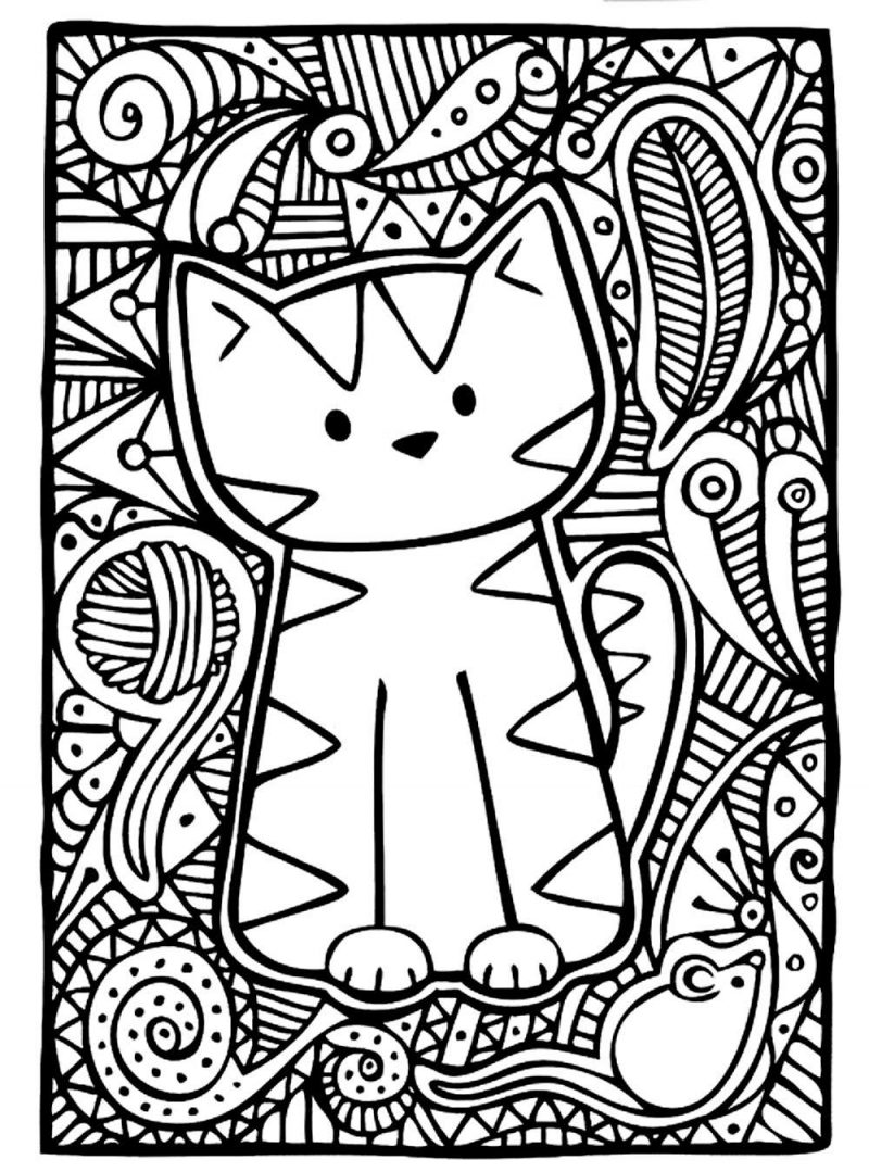 cats and kitten coloring pages - photo#48