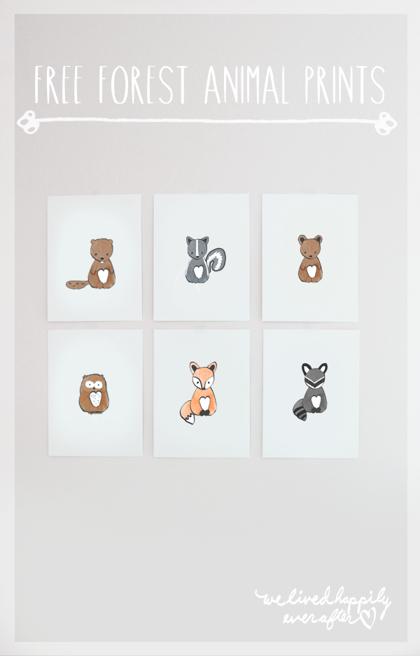 free forest animal printables