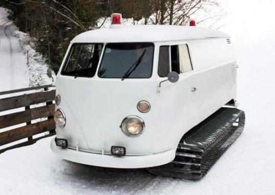 Festa in montagna? arriva il bus Volskwagen trasformato in dj-station!