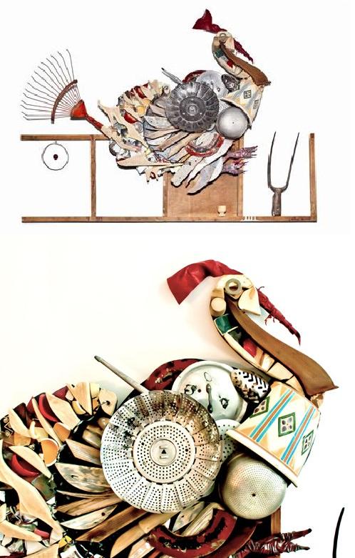 L'eco-tacchino di Sabrina Ventrella, esempio di riciclo a...regola d'arte!
