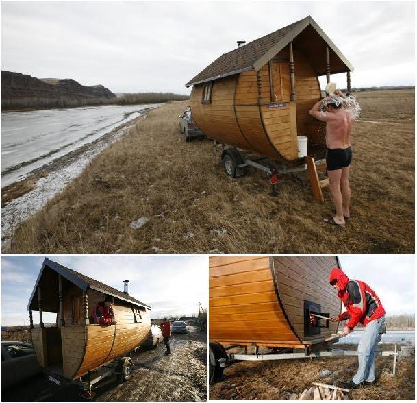 La sauna mobile bioradar for Costruire una sauna