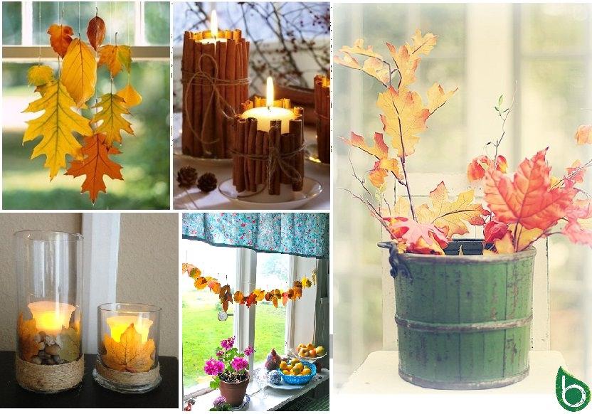 Autunno fai da te idee per utilizzare foglie rametti - Idee per decorazioni natalizie per la casa ...