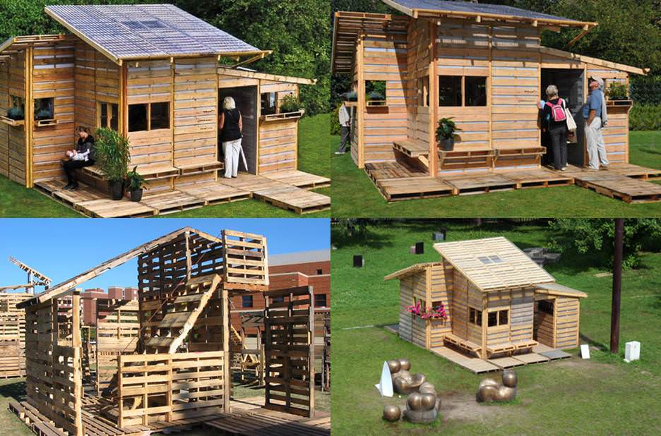 Pallet house come costruire una casa ecologica spendendo for Modi convenienti per costruire una casa