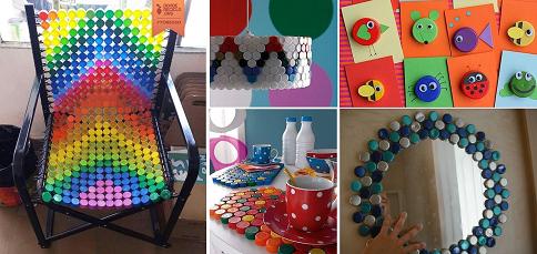 selezione premium varietà larghe sono diversamente Tappi di plastica: 16 coloratissime idee fai-da-te per ...