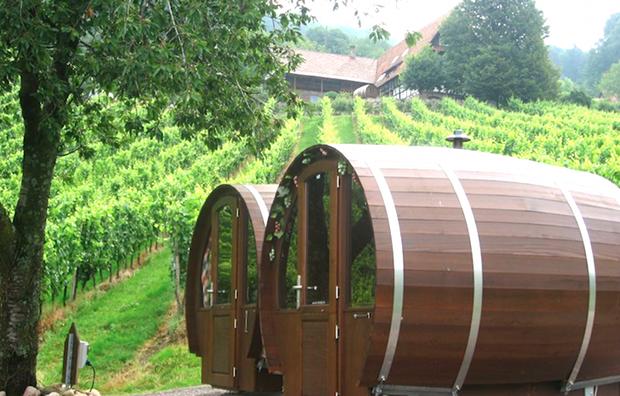 albergo in botte di vino