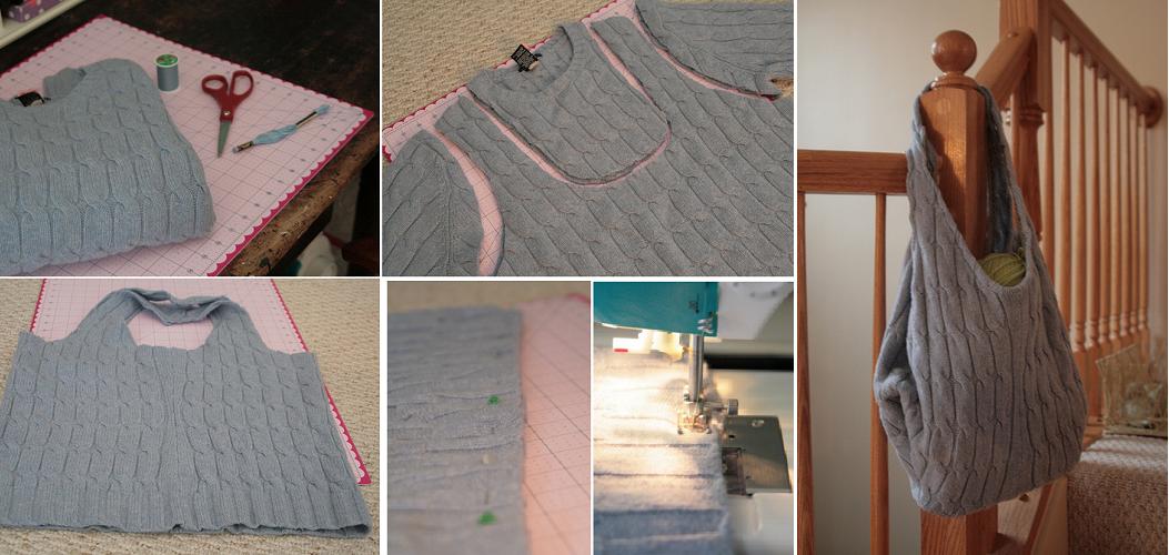 come riciclare riutilizzare golf lana - borsa faidate