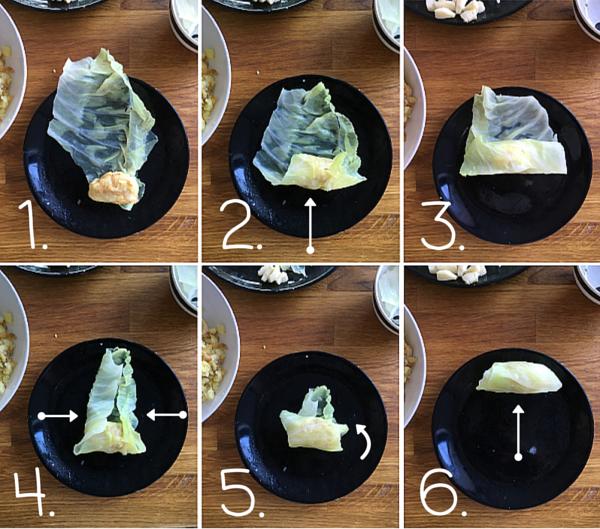 Come arrotolare gli involtini - ricetta involtini verza
