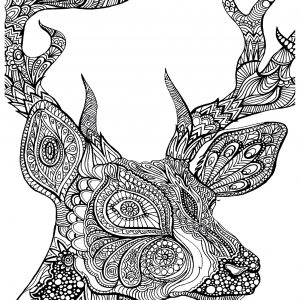 Art therapy 30 disegni da stampare e colorare for Deer coloring pages for adults